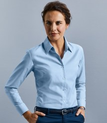 Workwear: Russell Collection Ladies Long Sleeve Easy Care Oxford Shirt