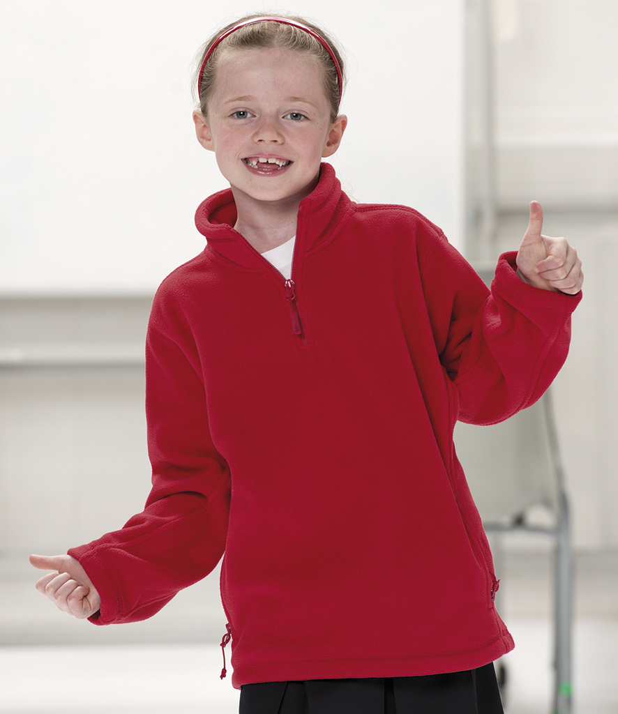 Jerzees Kids Zip Neck Fleece