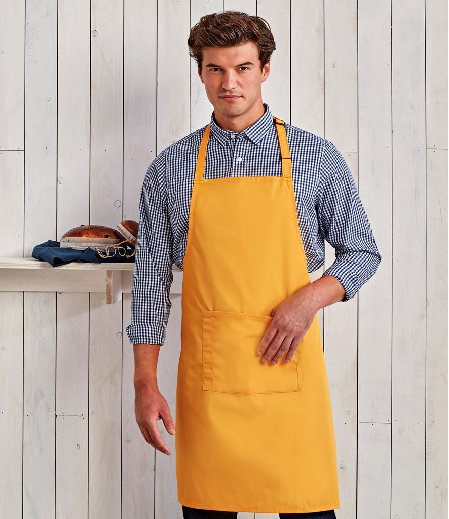 'Colours' Bib Apron w/Pocket