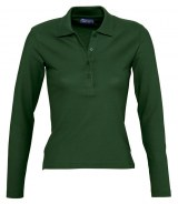 SOL'S Ladies Podium Long Sleeve Pique Polo Shirt