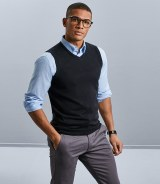 Russell Collection Sleeveless V Neck Sweater