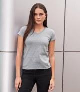Ladies Fashion Basic V Neck T-Shirt