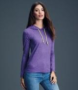 Anvil Ladies Fashion Basic Long Sleeve Hooded T-Shirt