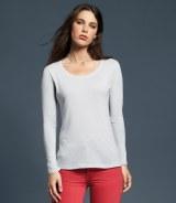 Anvil Ladies Sheer Long Sleeve Scoop Neck T-Shirt