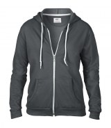 Anvil Ladies Fashion Full Zip Hooded Sweatshirt
