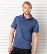 Canvas Jersey 5 Button Polo Shirt