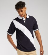 Front Row Diagonal Stripe House Polo Shirt
