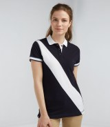 Front Row Ladies Diagonal Stripe House Polo Shirt