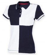 Front Row Ladies Quartered House Polo Shirt