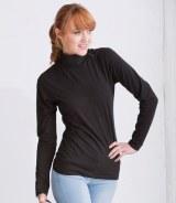 Henbury Ladies Long Sleeve Roll Neck Top