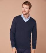 Henbury Lightweight V Neck Sweater