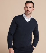 Henbury V Neck Sweater