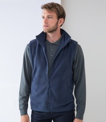 Workwear: Henbury Sleeveless Micro Fleece Jacket