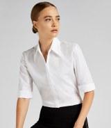 Kustom Kit Ladies 34 Sleeve Continental Blouse