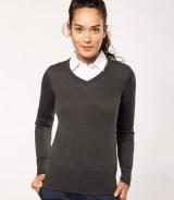 Kariban Ladies V Neck Sweater