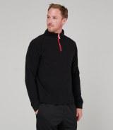 Finden & Hales Long Sleeve Piped Zip Neck Fleece