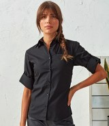 Premier Ladies 'Roll Sleeve' Poplin Blouse