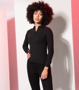 Skinnifit Ladies Long Sleeve Stretch Polo Shirt