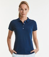 566F: Russell Ladies Stretch Pique Polo Shirt