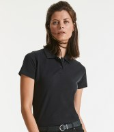 569F: Russell Ladies Cotton Pique Polo Shirt
