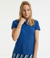 577F: Russell Ladies Ultimate Cotton Pique Polo Shirt