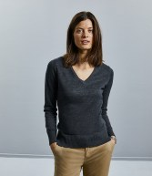 710F: Russell Collection Ladies V Neck Sweater