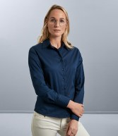 916F: Russell Collection Ladies Long Sleeve Classic Twill Shirt