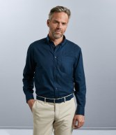 916M: Russell Collection Long Sleeve Classic Twill Shirt