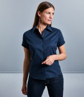 917F: Russell Collection Ladies Short Sleeve Classic Twill Shirt