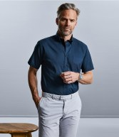 917M: Russell Collection Short Sleeve Classic Twill Shirt