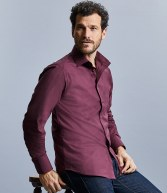 946M: Russell Collection Long Sleeve Easy Care Fitted Shirt