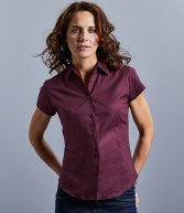 947F: Russell Collection Ladies Short Sleeve Easy Care Fitted Shirt