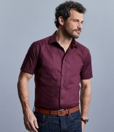 947M: Russell Collection Short Sleeve Easy Care Fitted Shirt