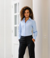952F: Russell Collection Ladies Long Sleeve Tencel Corporate Shirt