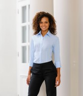 953F: Russell Collection Ladies 3/4 Sleeve Tencel® Corporate Shirt