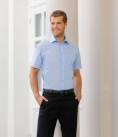 953M: Russell Collection Short Sleeve Tencel Corporate Shirt
