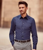 954M: Russell Collection Long Sleeve Tencel Fitted Shirt