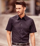 955M: Russell Collection Short Sleeve Tencel® Fitted Shirt