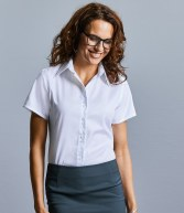 957F: Russell Collection Ladies Short Sleeve Ultimate Non-Iron Shirt