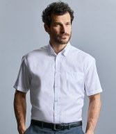 957M: Russell Collection Short Sleeve Ultimate Non-Iron Shirt