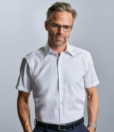 959M: Russell Collection Short Sleeve Tailored Ultimate Non-Iron Shirt