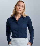 960F: Russell Collection Ladies Ultimate Stretch Shirt
