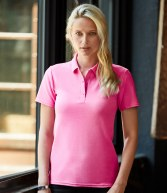 AV303F: Anvil Ladies Cotton Double Pique Polo Shirt