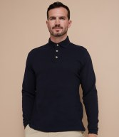 H105: Henbury Long Sleeve Classic Cotton Pique Polo Shirt