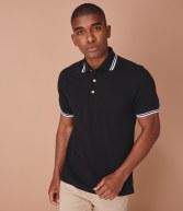 H150: Henbury Contrast Double Tipped Pique Polo Shirt