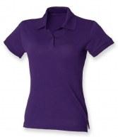 H306: Henbury Ladies Stretch Cotton Pique Polo Shirt