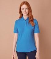 H401: Henbury Ladies Poly/Cotton Pique Polo Shirt