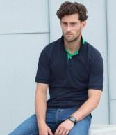 H420: Henbury Contrast Poly/Cotton Pique Polo Shirt