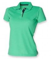 H421: Henbury Ladies Contrast 65/35 Pique Polo Shirt