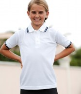 H459: Henbury Kids Tipped Pique Polo Shirt
